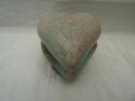 Raku hart urn 2