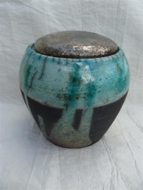 Urn raku turquoise. MU 54