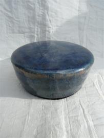 Herinnerings steen kristal glazuur groen / blauw. HS 9