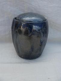Urn blauw / zilver tinten. MU 34