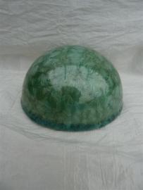 Ronde herinnerings steen smaragd groen. HBK 5