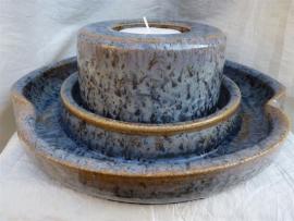 Duo waxine brander met blauw. 6