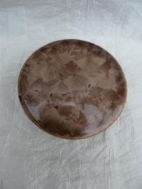 Herinnerings steen kristal glazuur sienna bruin. HS 5