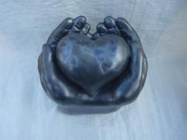 Hart in handen groot