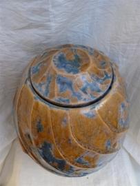 Urn okergeel / blauw. U 118