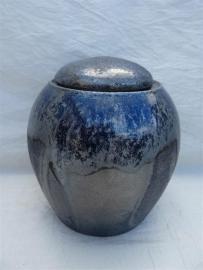 Urn blauw / zilver tinten. MU 33