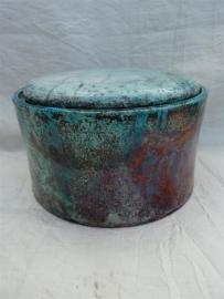 Urn raku turquoise. MU 61