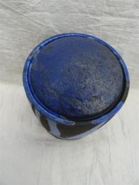 Urn raku blauw. MU 58