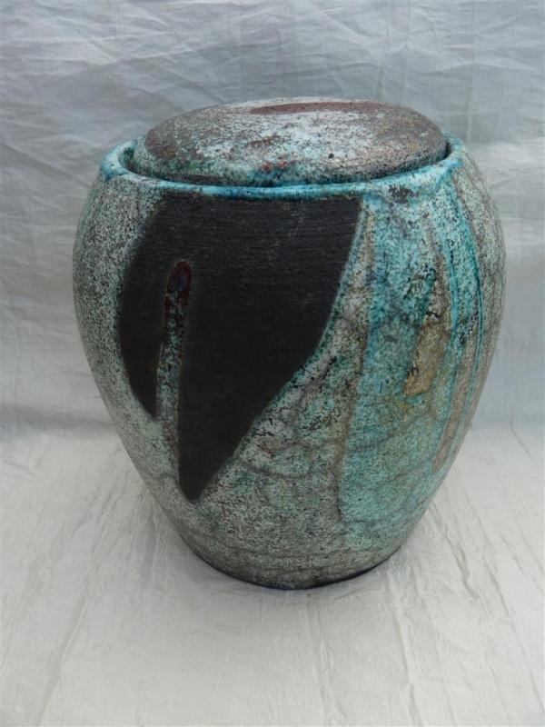 Urn raku turquoise. MU 62