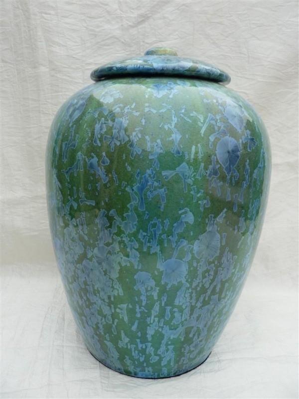 Urn groen / blauw. U 121