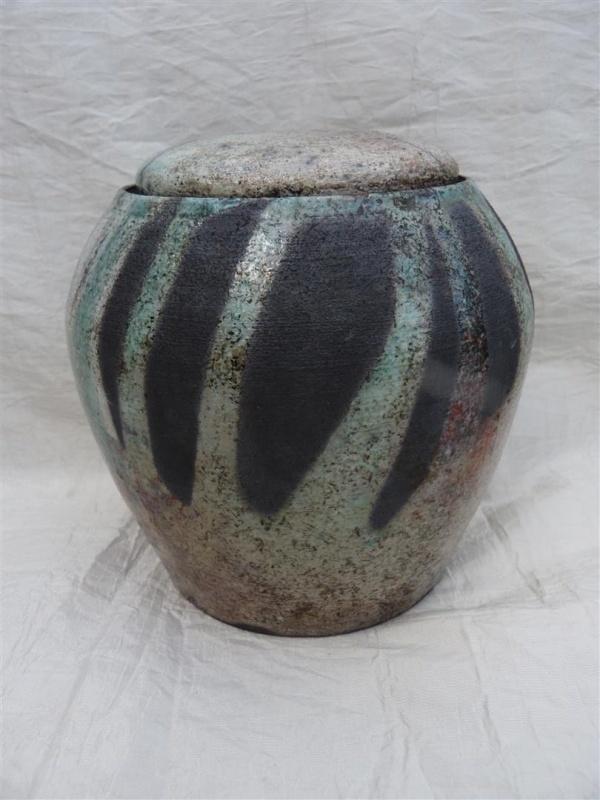 Urn raku turquoise. MU 59