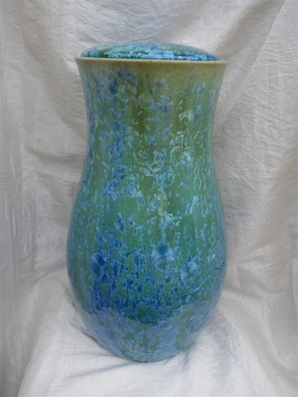Urn groen / blauw. U 120
