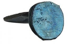 Blauwe stoffeernagel 10 mm.