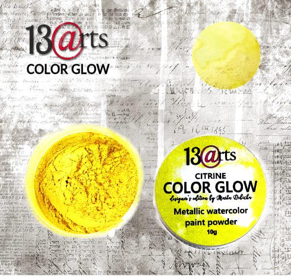 Colour Glow Paint Powder Citrine