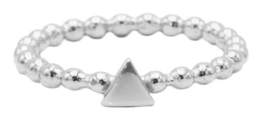 Dots Triangle Zilver