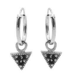 Driehoek Zwart Zirconia Zilver