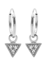 Driehoek Zirconia Zilver