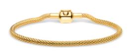 Armband goud 19 cm