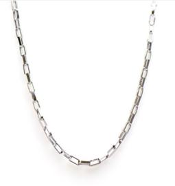 Vierkante Schakel Zilver