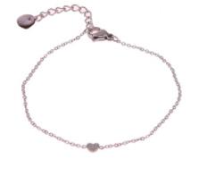 Armband Hartje met steentjes