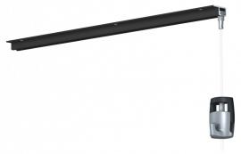 Newly Schilderij Ophangsysteem U-rail zwart 200cm