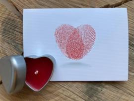 Hartenkaarsje + hartenkaart