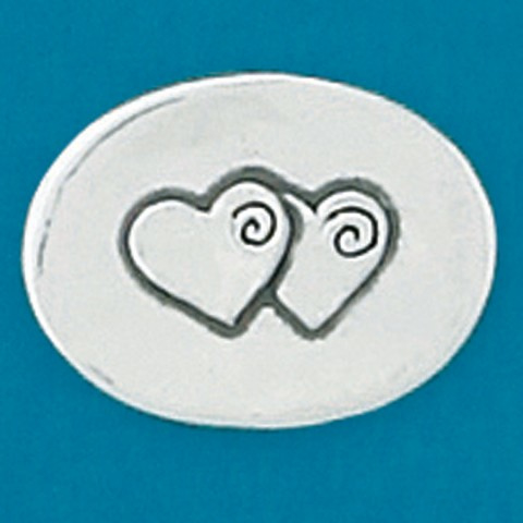 Trooststeentje 2 harten (7701)