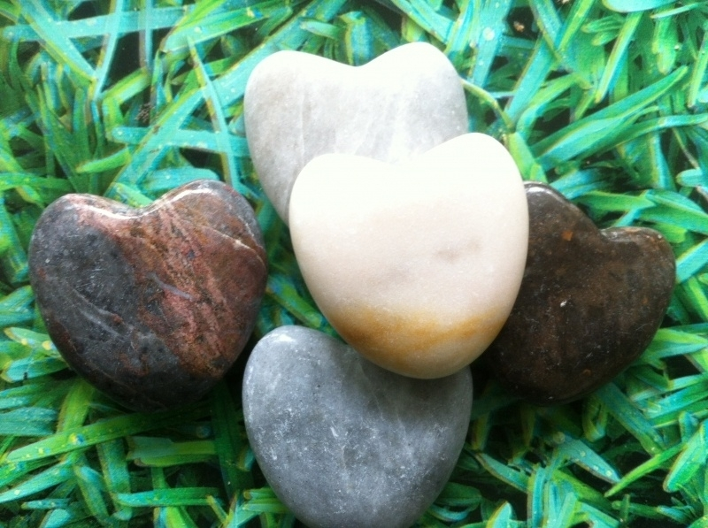 Harten stenen set van 5 stuks assorti