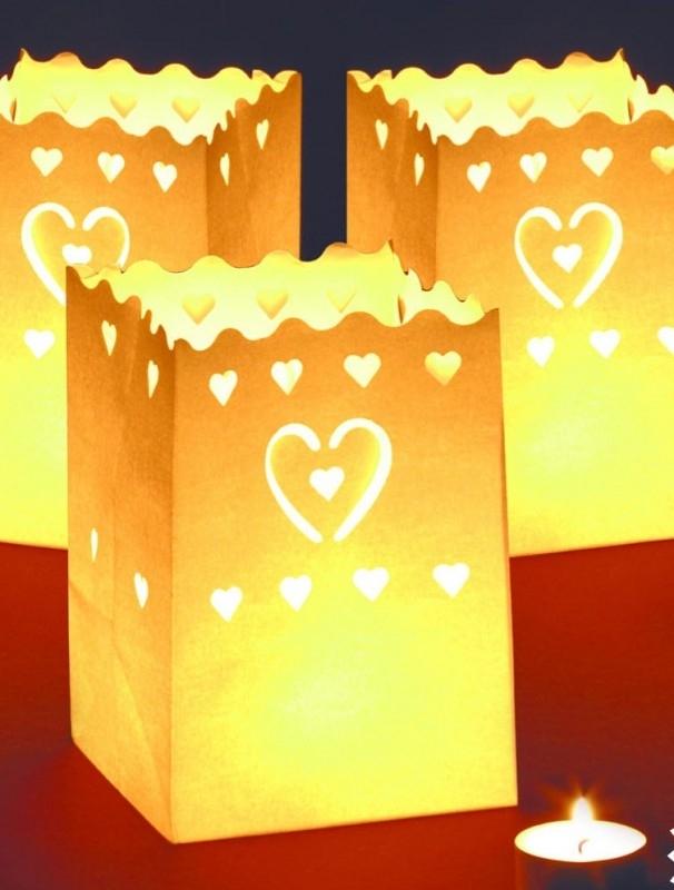 Lichtzakjes 10 stuks Harten