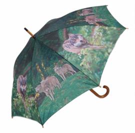 Paraplu Wolven