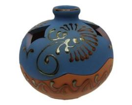 Sierpot Terracotta Blauw