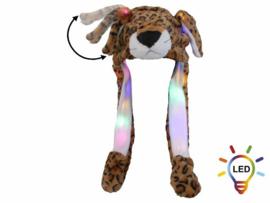 Muts Luipaard Wiebeloren en LED verlichting