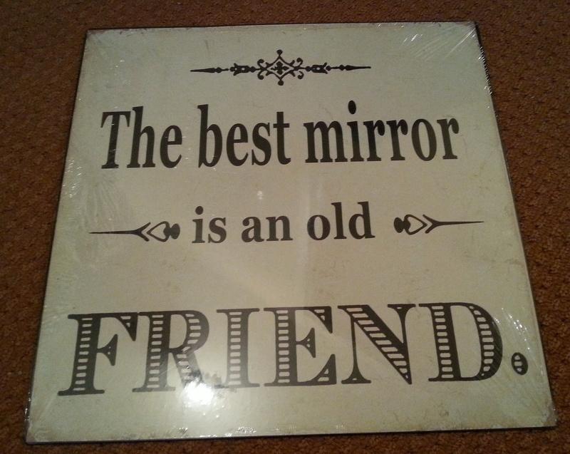 Tekstbord The Best Mirror