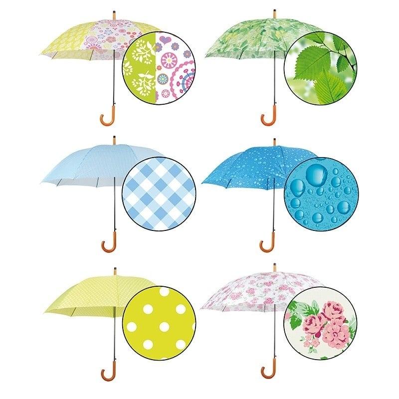 Paraplu Geel Fleurig