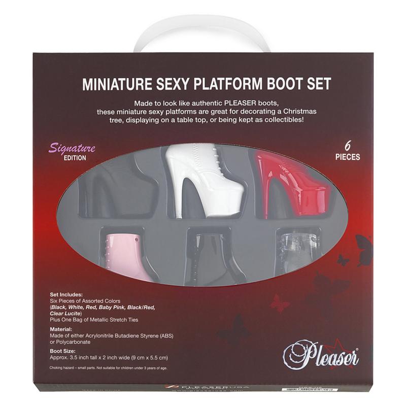 miniature platform booties (doos 6 stuks)