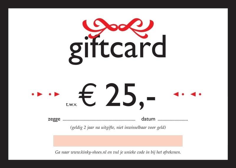 Giftcard / kadobon € 25,-