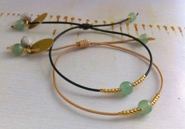 Bracelet Aventurine Green - `Harmony`