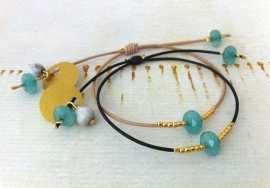 Bracelet Jade Blue - `Peace & Reflection`