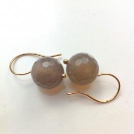 Earrings Agate Grey