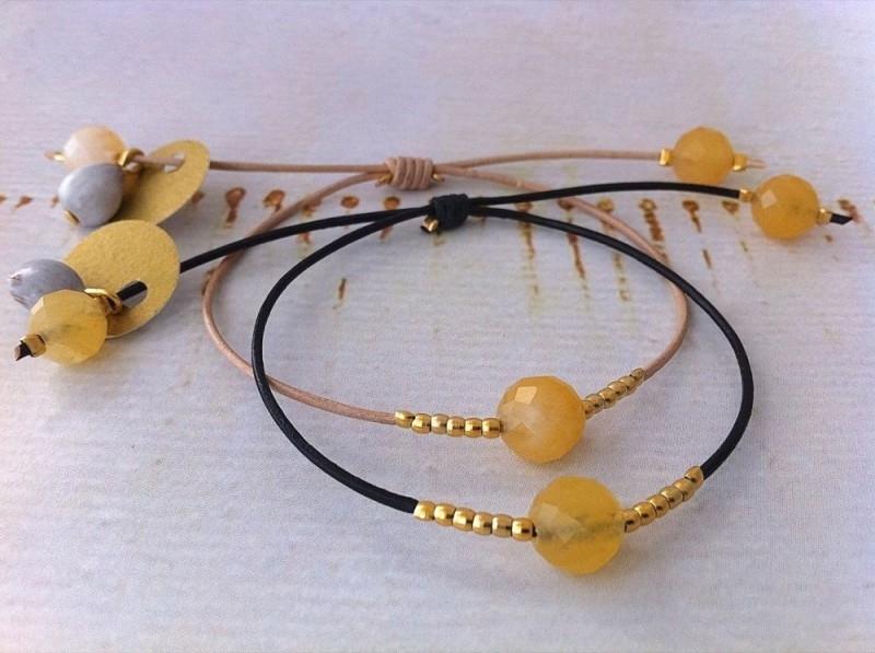 Bracelet Jade Yellow - `Joy & Happiness`