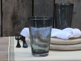 Drinkglas met bubbels grijs groot