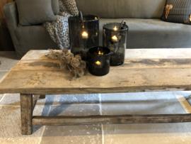 Salontafel van oud hout  150 x 70 cm