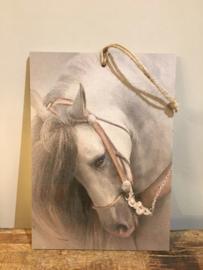 Decobordje  wit paard