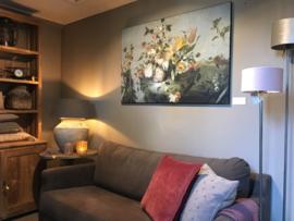 Prachtig schilderij canvas framed -Flowers-