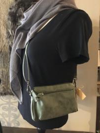 Leuk klein schoudertasje groen