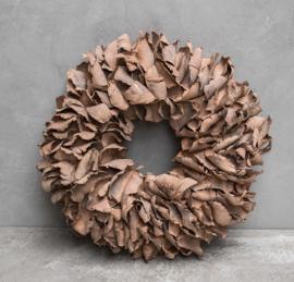 Krans van palmblad oudroze 25-40 cm