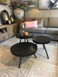 Leuke zwarte salontafel rond 45 cm