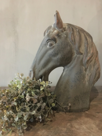 Leuk bruin stenen paardenhoofd  - maten