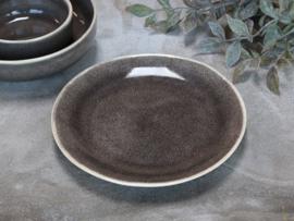 Mooi stenen lunchbord grijs
