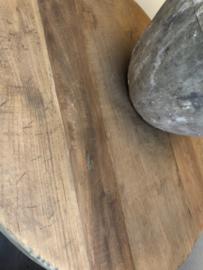 Wijntafel vergrijsd teakhout 80 cm